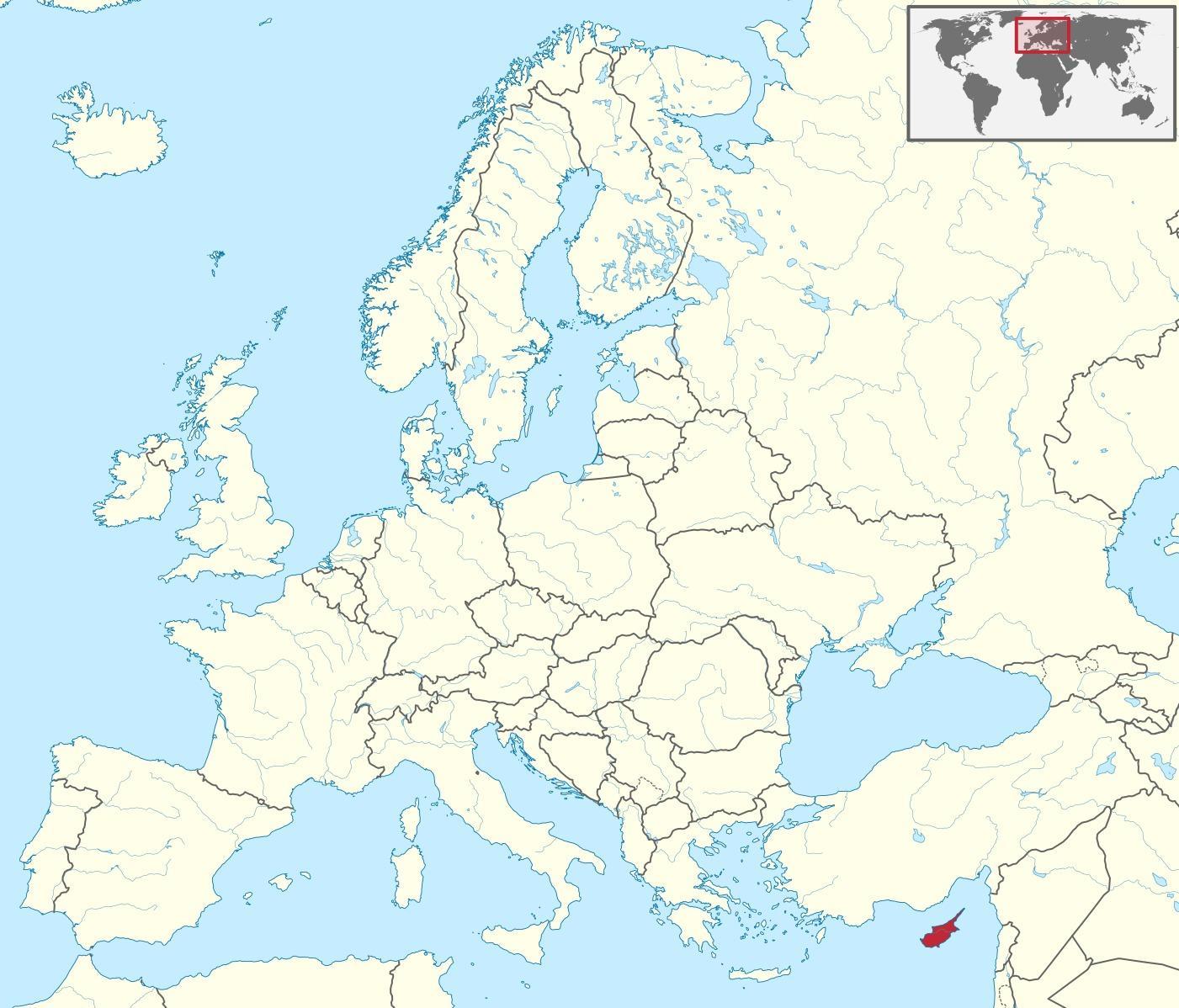 carte chypre monde