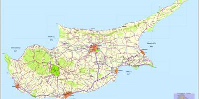 Carte Chypre Protaras.Chypre Carte Cartes De Chypre Sud De L Europe Europe